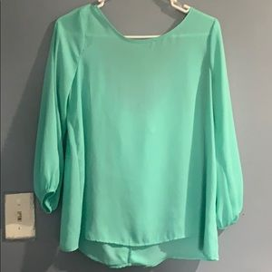 Mint blouse with bow🎀 on the back